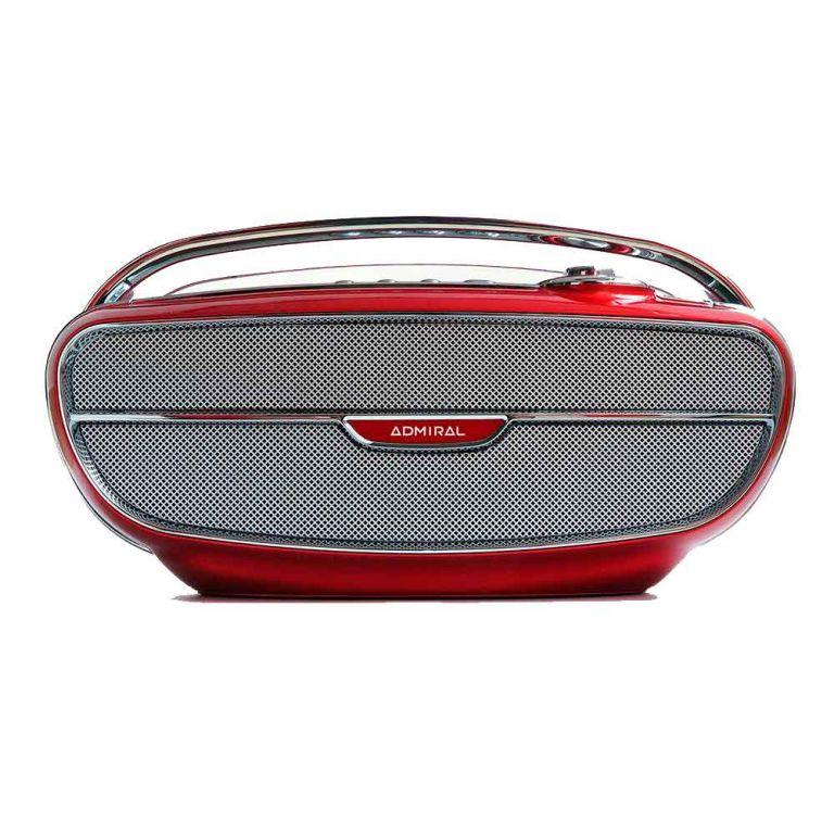 Parlante Portátil Bluetooth Admiral Retro 20 Watt Rojo